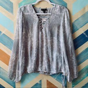 Jessica Simpson sheer blouse
